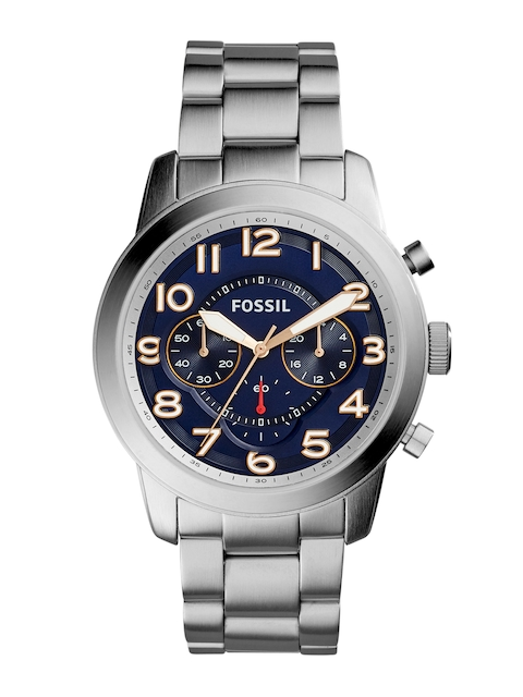 Fossil Men Navy Blue Analogue Watch FS5203