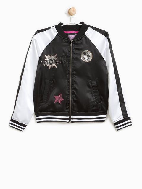 OVS Girls Black Solid Bomber Jacket