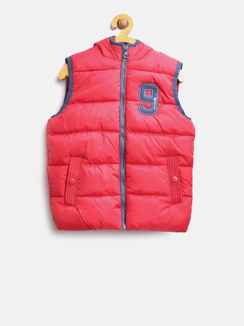 OVS Boys Red Solid Puffer Jacket