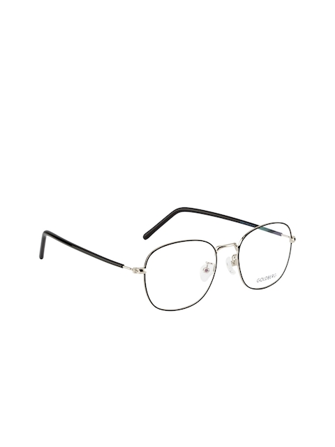 Gold Berg Unisex Black & Silver-Toned Round Frames GB-10262