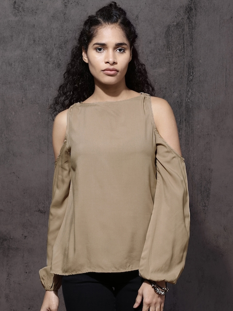 Roadster Women Beige Solid Top