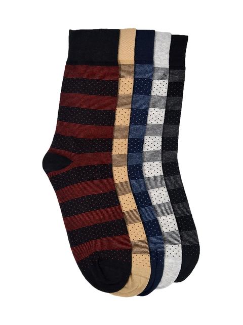 VINENZIA Men Set Of 5 Above Ankle-Length Socks