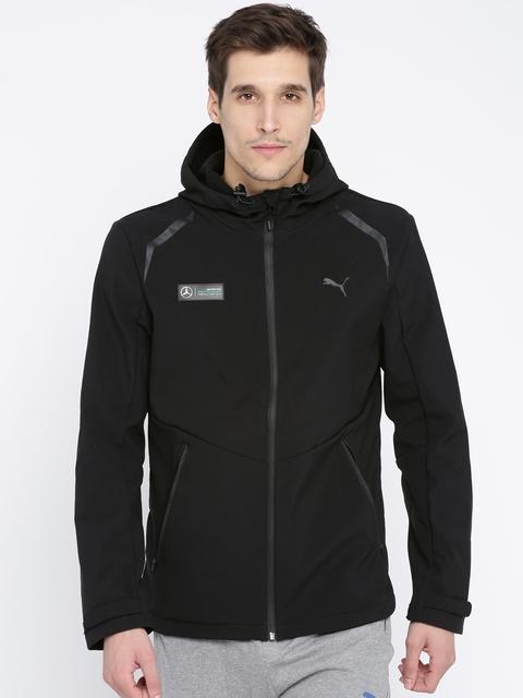 Puma Men Black Solid Sporty AMG Petronas Jacket
