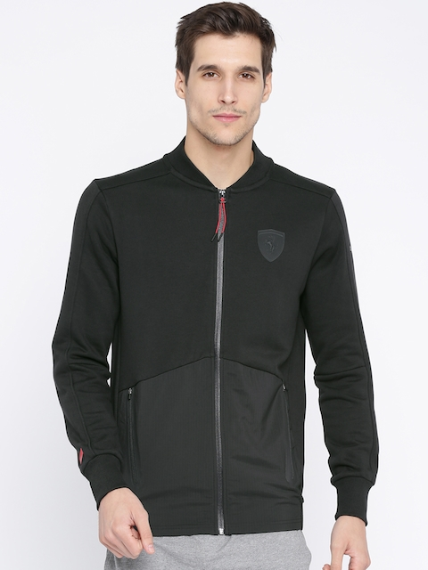 Puma Men Black Solid Tailored Jacket