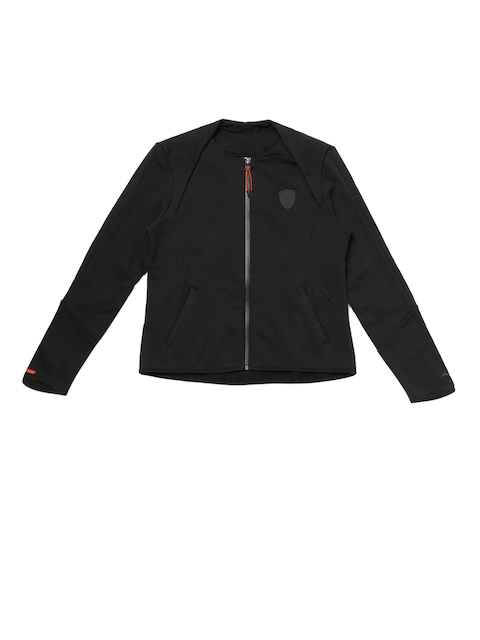 Puma Women Black Ferrari T7 Sweat Sporty Jacket