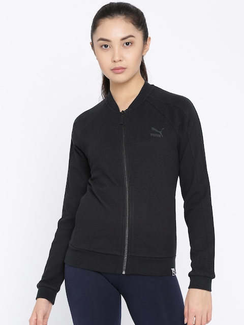 Puma Women Black Solid Archive T7 Track Sporty Jacket