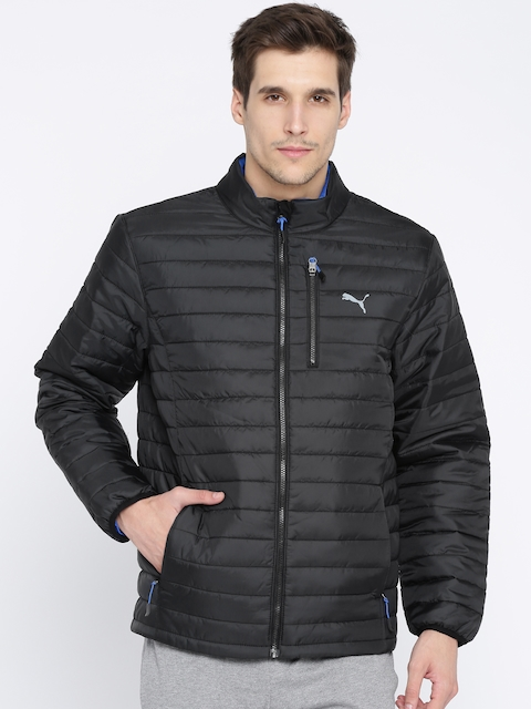 Puma Men Black Solid PWRWARM Quilted Puffer Jacket