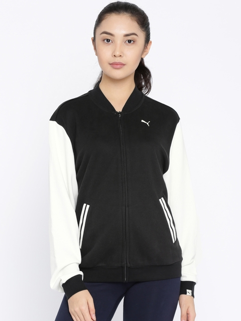 Puma Women Black Solid ATHLETIC Sporty Jacket