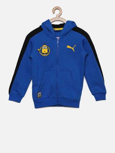 Puma Boys Blue Solid Sporty Jacket