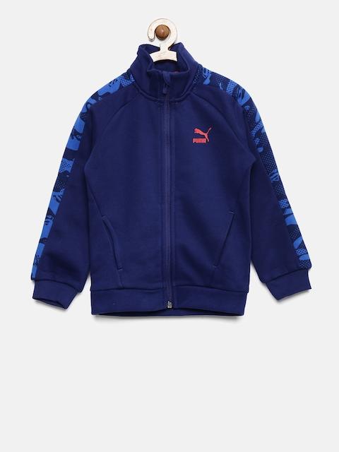 Puma Boys Blue Solid Justice League Jacket