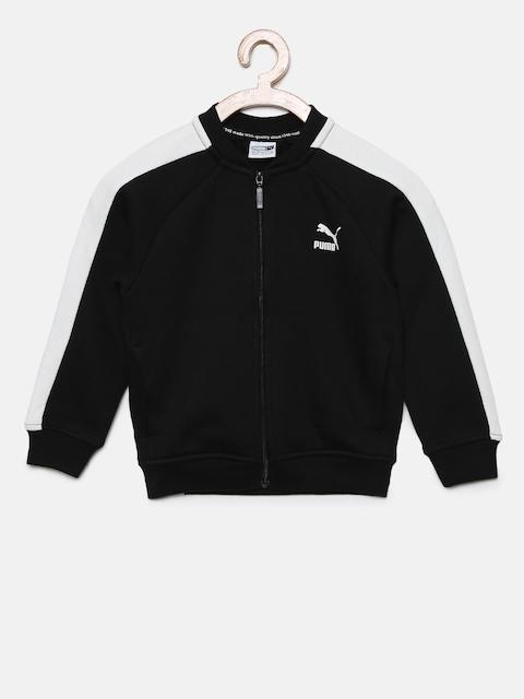 Puma Girls Black Solid Sporty Jacket