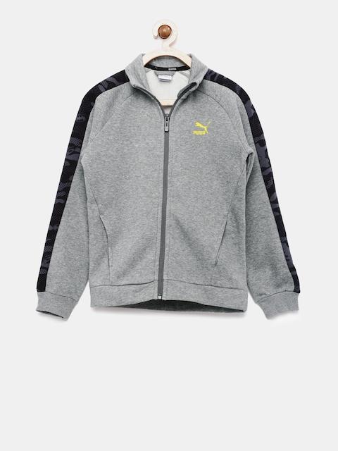 Puma Boys Grey Solid Justice League Sporty Jacket