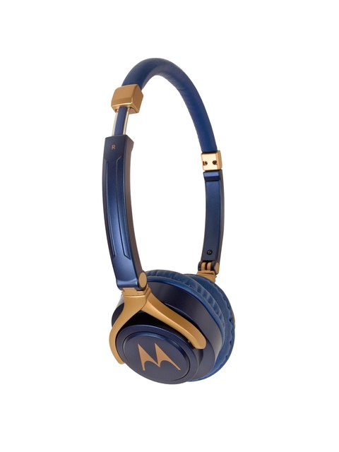 Motorola Blue & Gold-Toned Wired Pulse 3 Over-Ear Headphones 5012786037076