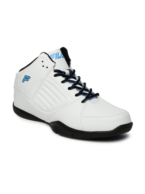 FILA Men White Synthetic Mid-Top Concept 2 Basketball Shoes
