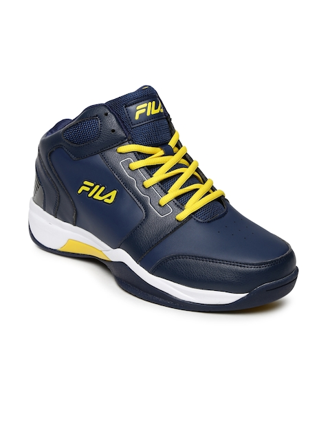 FILA Men Blue Synthetic Mid-Top Commit 2 Basketball Shoes