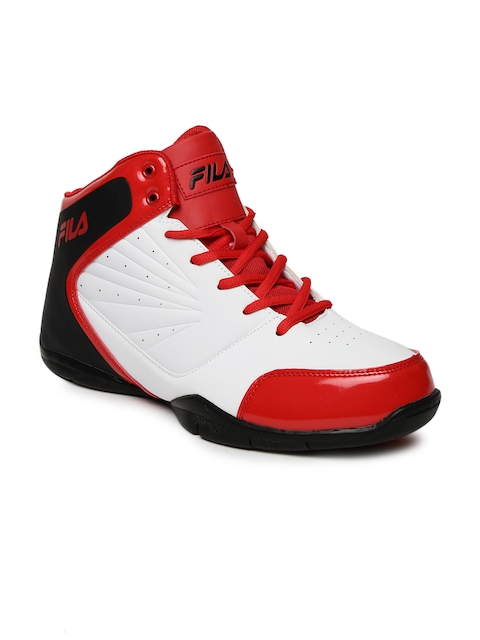 FILA Men White Synthetic Mid-Top PLAYER 2 Basketball Shoes