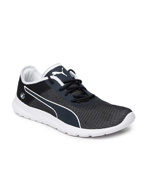Puma Unisex Navy Blue BMW MS Runner Sneakers  available at myntra for Rs.5599
