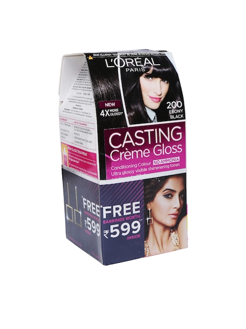 L'Oreal Paris Women Casting Creme Gloss Hair Color 200 Ebony Black 163 g  available at myntra for Rs.504