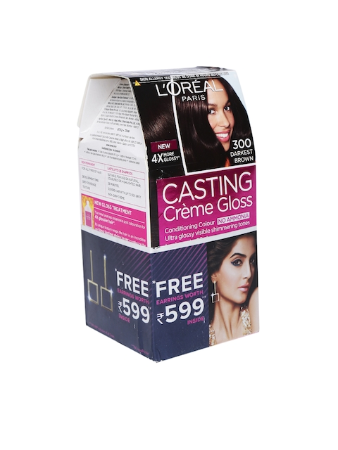 L'Oreal Paris Women Casting Creme Gloss Hair Color 300 Darkest Brown 163 g  available at myntra for Rs.504