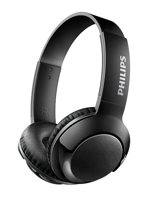 Philips Black BASS+ Wireless On Ear Headphones with Mic