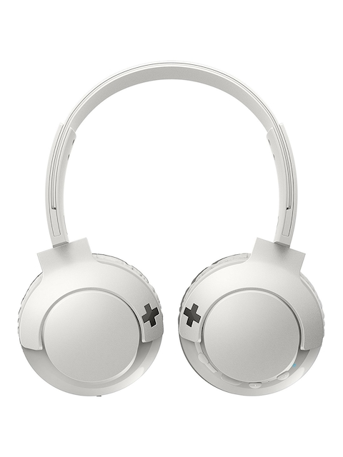 Philips Off-White BASS+ Wireless On Ear Headphones with Mic