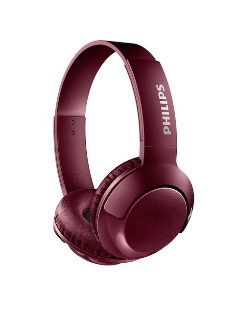 Philips Unisex Burgundy Over-Ear Headphones with Mic