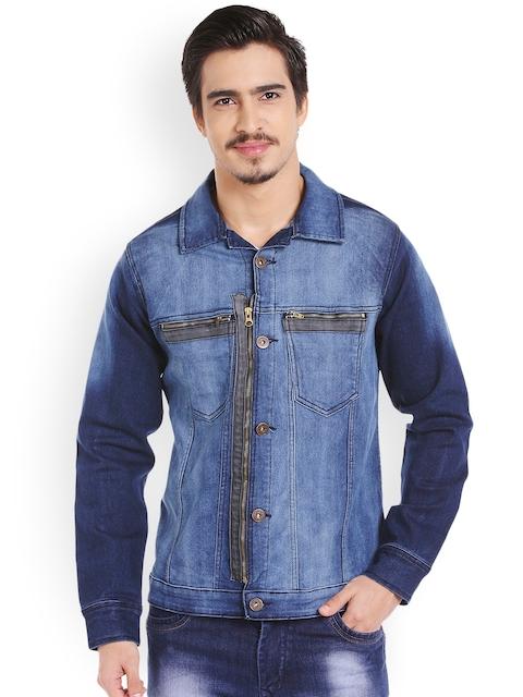 High Star Men Blue Washed Denim Jacket