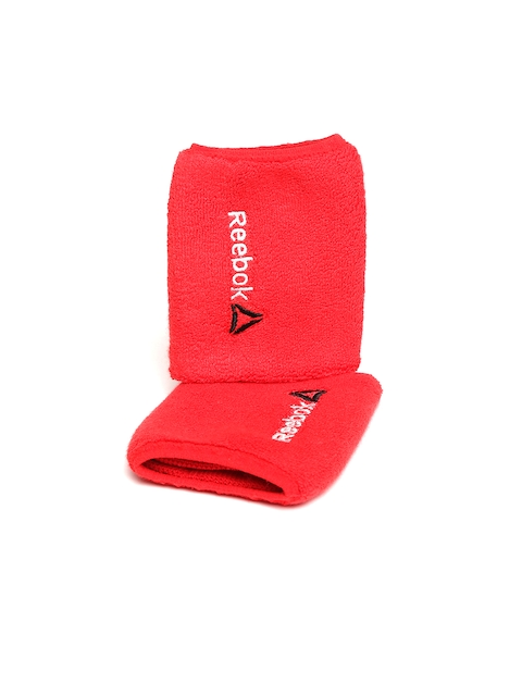 Reebok Unisex Set of 2 Red OS Training Wristbands