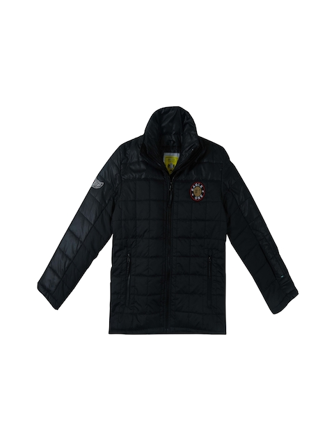Gini and Jony Boys Grey Solid Quilted Jacket