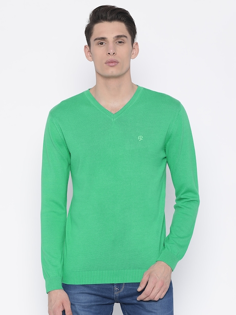 Pepe Jeans Men Green Solid Pullover