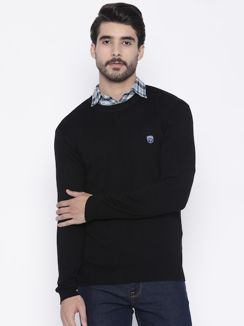 Pepe Jeans Men Black Solid Pullover Sweater