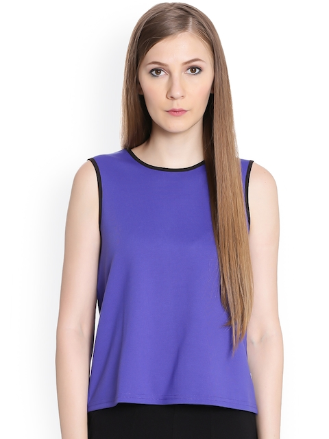 United Colors of Benetton Women Purple Solid Top