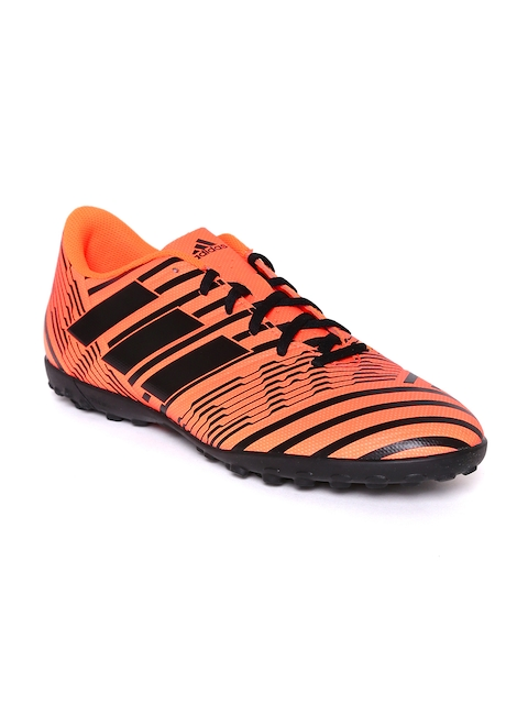 Adidas Men Orange & Black Nemeziz 17.4 TF Football Shoes