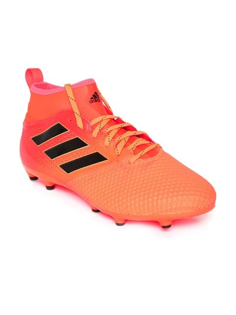 ADIDAS Men Orange Ace 17.3 FG Textured Mid-Top Football Shoes