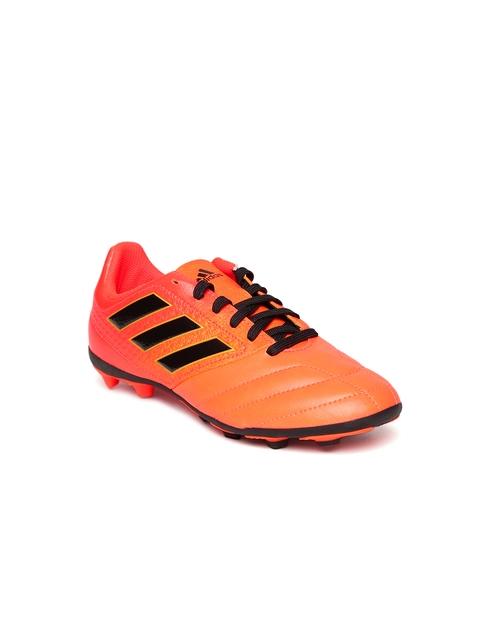 Adidas Boys Neon Orange Ace 17.4 FXG J Football Shoes