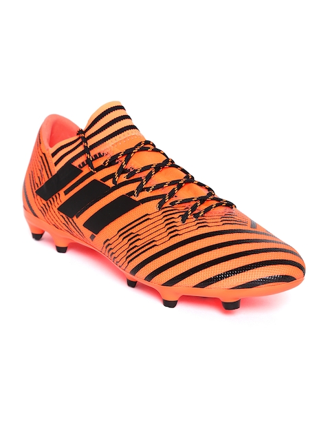 ADIDAS Men Neon Orange NEMEZIZ 17.3 FG Football Shoes