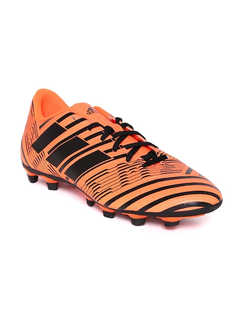 ADIDAS Men Neon Orange NEMEZIZ 17.4 FXG Football Shoes