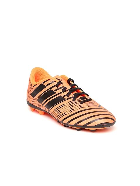 Adidas Boys Neon Orange NEMEZIZ 17.4 FXG J Printed Football Shoes