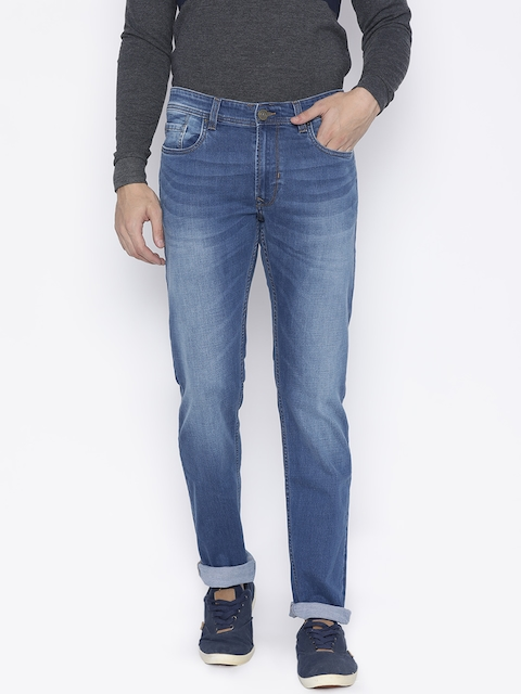 Peter England Casuals Men Blue Slim Fit Mid-Rise Stretchable Jeans