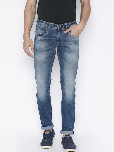 Peter England Casuals Men Blue Skinny Fit Low-Rise Stretchable Jeans