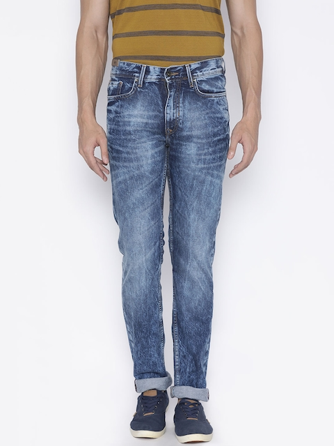 Peter England Casuals Men Blue Mid-Rise Clean Look Jeans