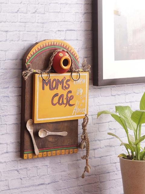 VarEesha Brown Wooden Kitchen Wall Hanging