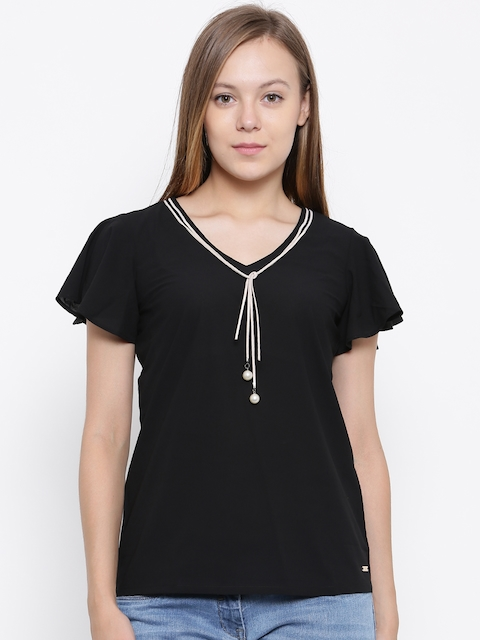 Park Avenue Woman Black Solid Top