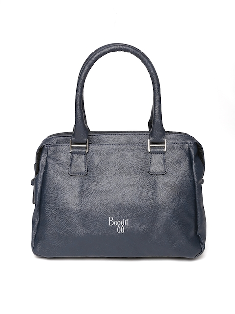 Baggit Navy Solid Handheld Bag