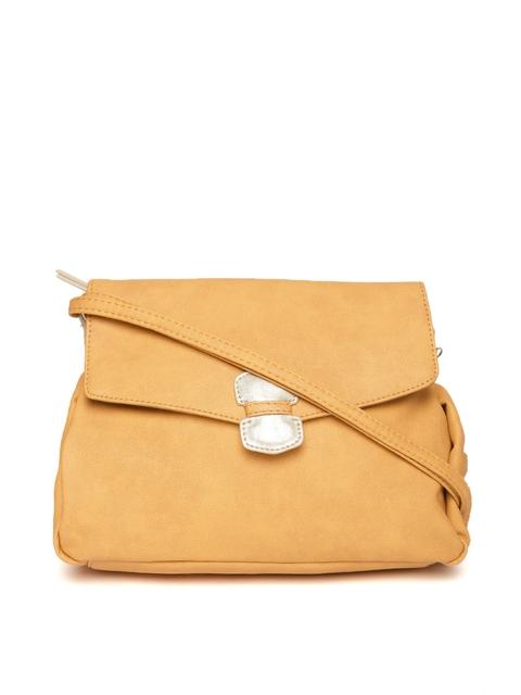 Baggit Yellow Solid Sling Bag
