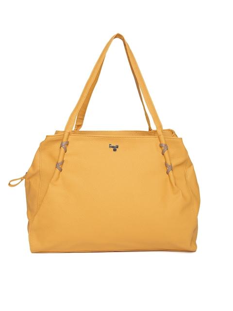 Baggit Mustard Yellow Solid Shoulder Bag