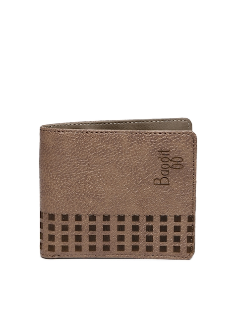 Baggit Men Brown Colourblocked Two Fold Wallet