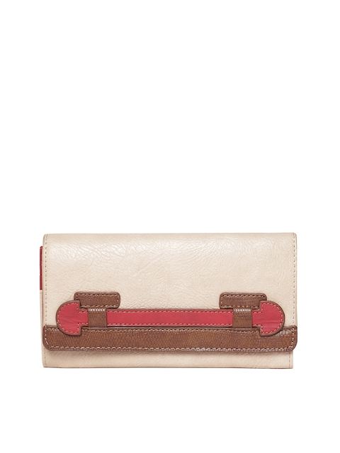 Baggit Women Beige Solid Two Fold Wallet  available at myntra for Rs.810