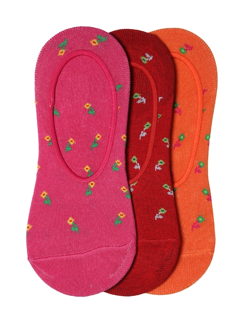 Dressberry Women Pack of 3 Patterned Shoeliners
