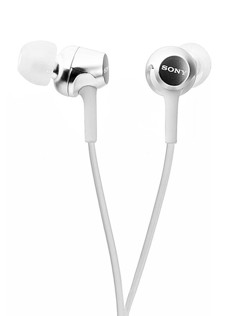 Sony White In-ear Stereo Headphones MDR-EX155/WQIN